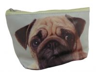 PUG DOG PICTURE WIPE CLEAN MAKE UP BAG, GREAT GIFT FOR DOG LOVERS..
